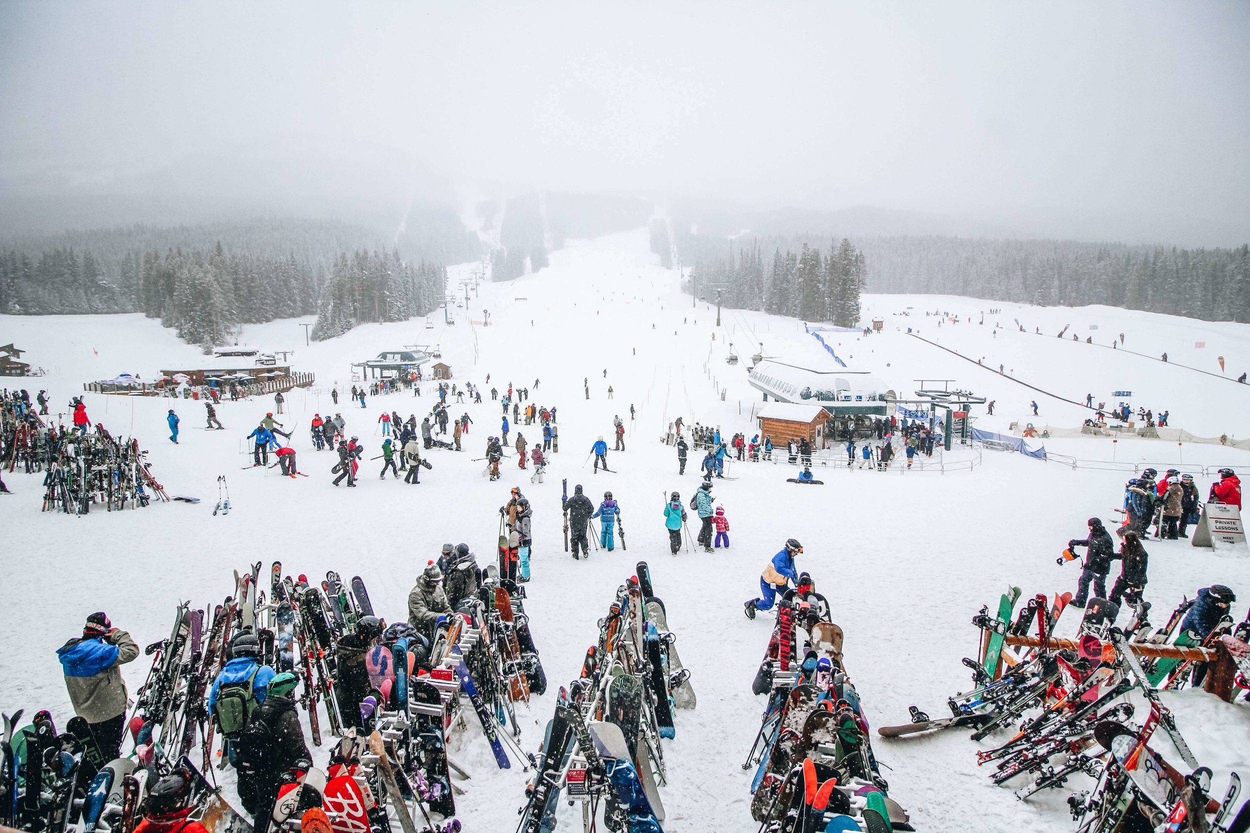 good ski etiquette in ski resort lift lines and ticket lines