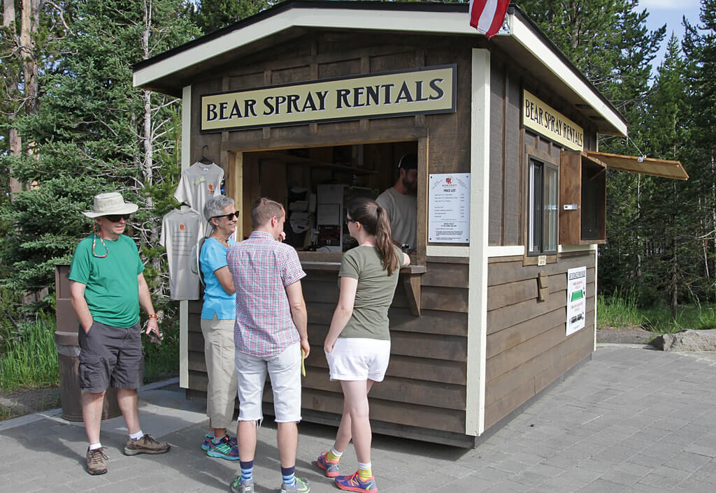 Rent bear spray at your local national park - ©️  Yellowstone NP
