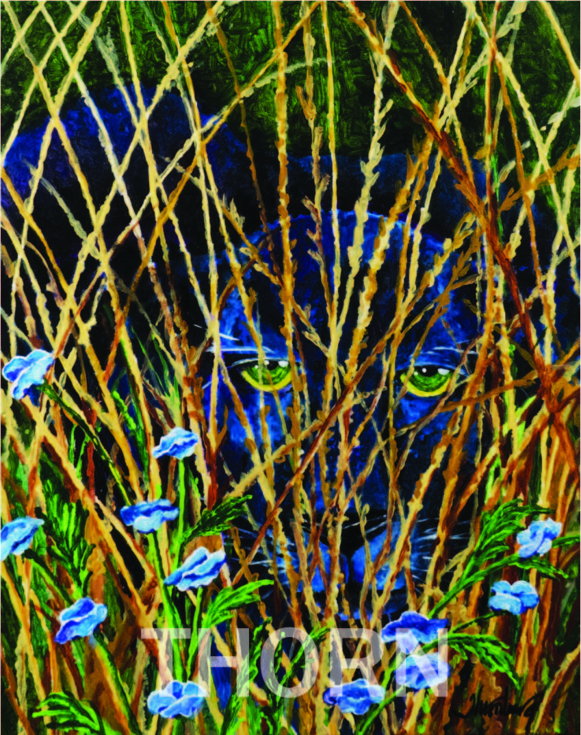 WAITING    Click on image for size and material options.   Prints Available from $59 - $190  Authentic Watercolor on Archival Paper  Original Art Sold  2001  Artist: Karen Thornberg