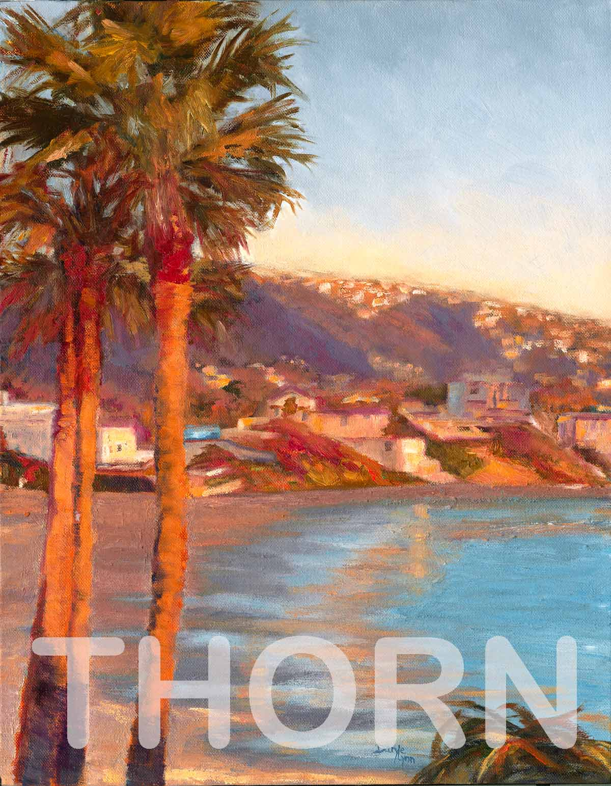"DESTINATION LAGUNA    Click on image for size and material options.   Prints Available from $27 - $310  Authentic Oil 14""w x 18""h  Original Art Sold  2011  Artist: Daryle Lynn Cornelison"