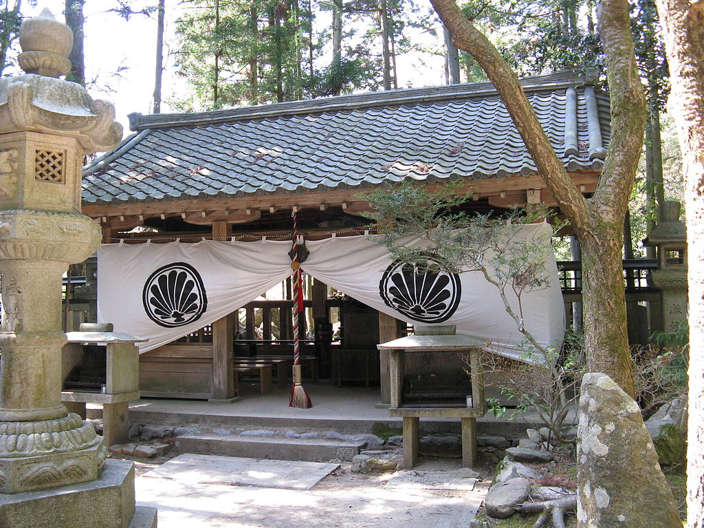 Okunoin Mao-den Shrine located at the top of Mount Kurama