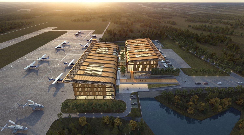 Qingdao Cihang Airport, China