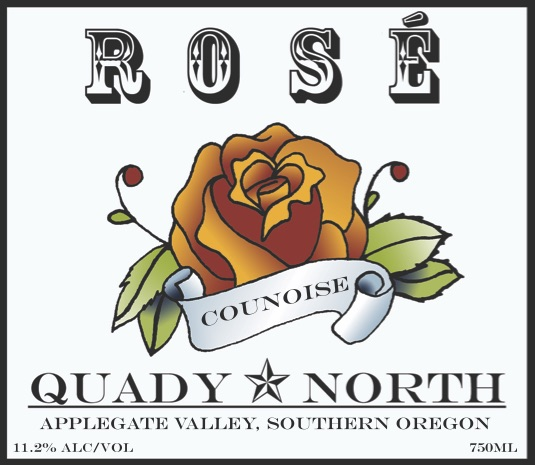 Quady North Counoise Rosé label