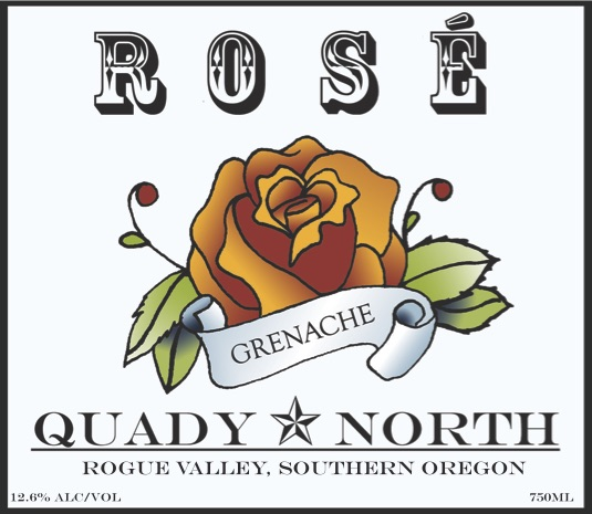 Quady North Grenache Rosé label