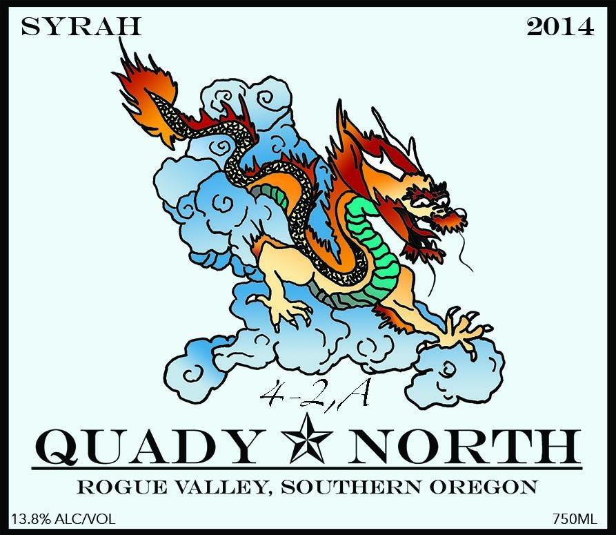 Quady North Syrah 4-2,A label