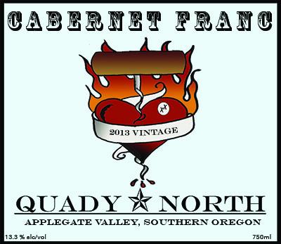Quady North Cab Franc Applegate Valley label