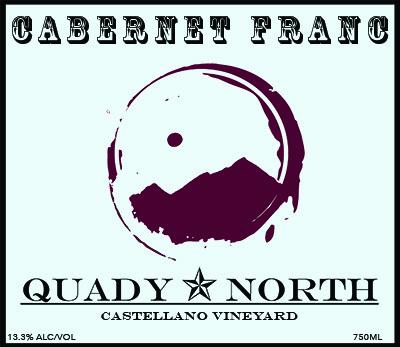 Quady North Cab Franc Castellano Vineyard label