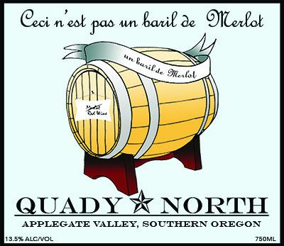 Quady North Ce'ci N'est Pas un Baril de Merlot label