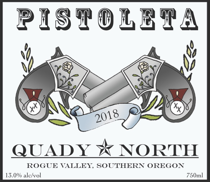 QuadyNorth Pistoleta label