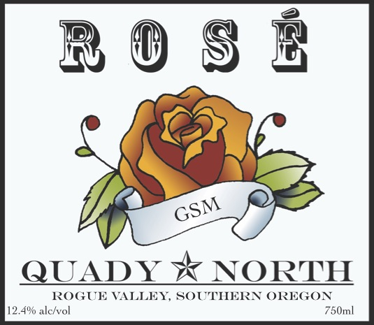 Quady North GSM Rosé label