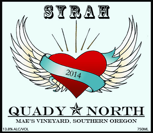 Quady North Syrah Mae's Vineyard label