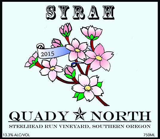 Quady North Syrah Steelhead Run Vineyard label