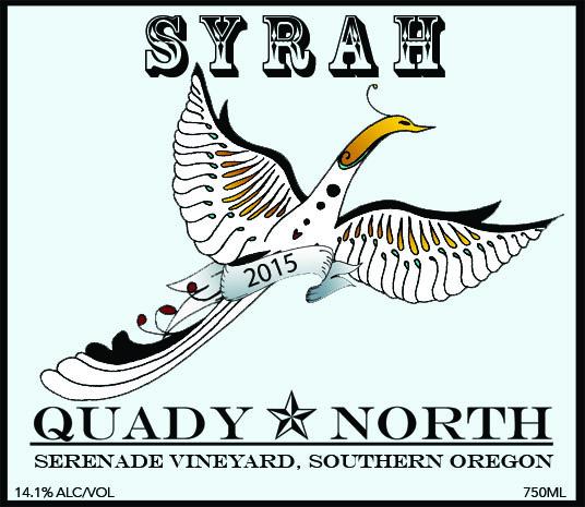 Quady North Syreah Serenade Vineyard label