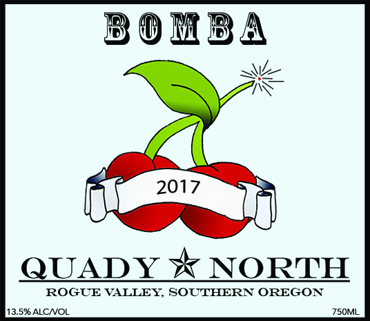 Quady North Bomba label