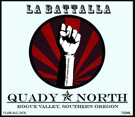 Quady North La Battalla label