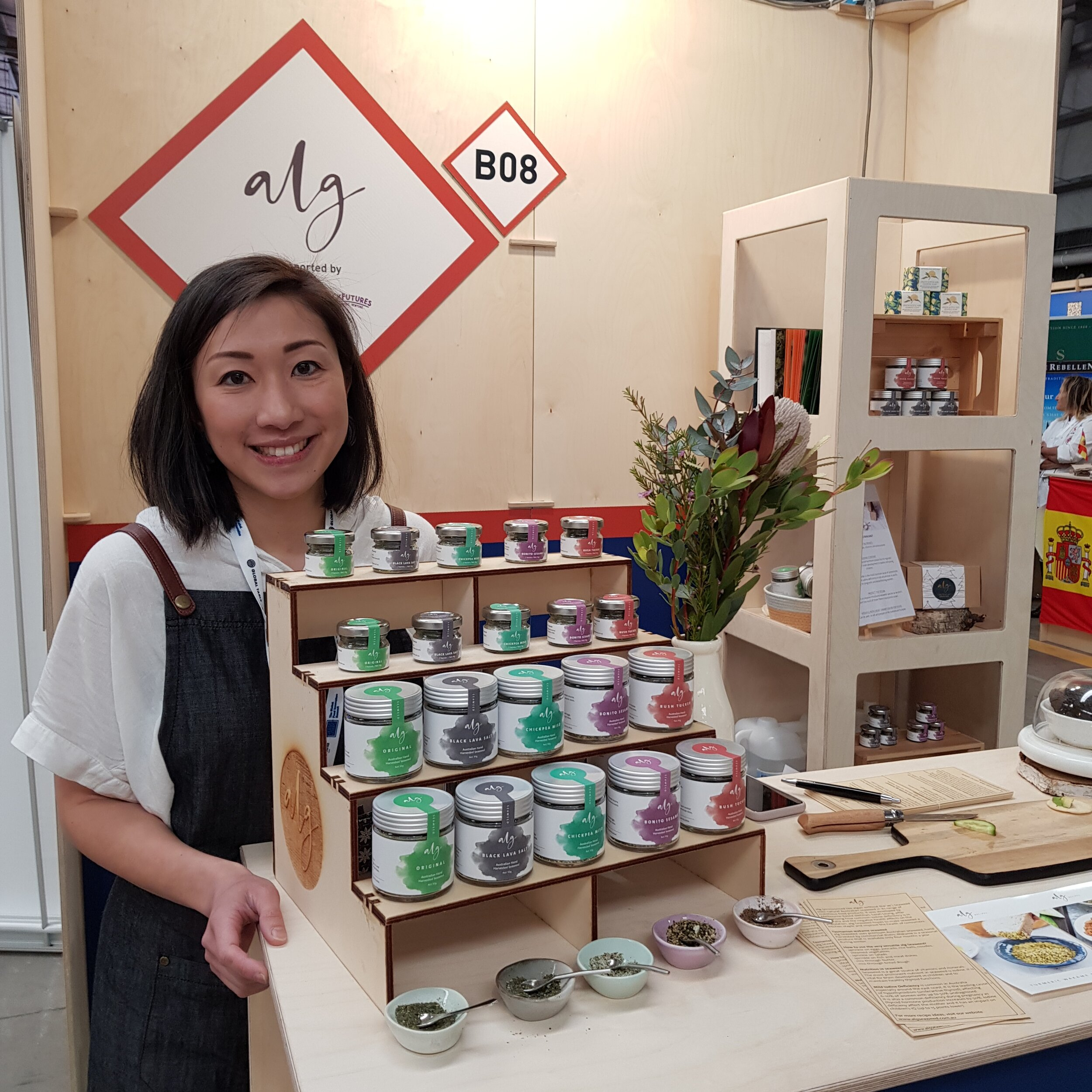 Sarah Leung, Founder of alg Seaweed at Global Table Australia, September 2019