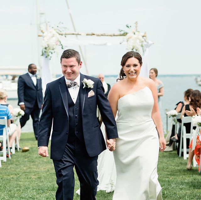 We had a fantastic Memorial Day weekend-thanks for asking! BIG congratulations to Jackie & Scott!  Photo Credit: Lisa Boggs Photography |  Floral: Seaberry Farm |  Wedding Planning: Rebecca Thomas Events |  Ceremony Location: Inn at Perry Cabin  #wedding #easternshorewedding  #love  #waterfrontwows