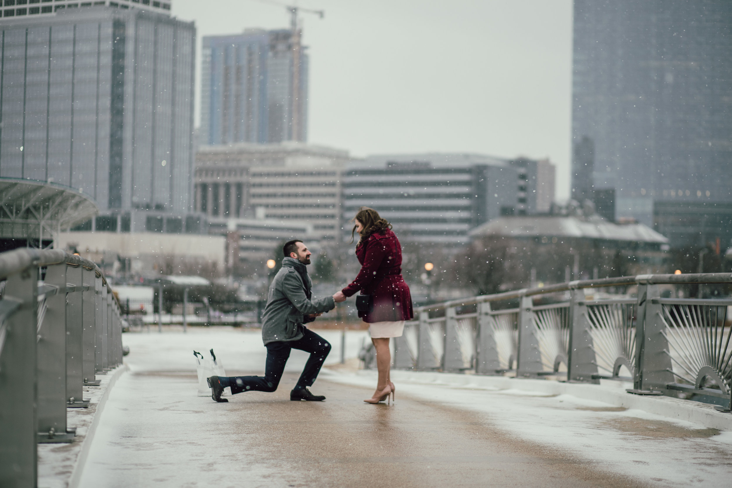 Surprise Proposal Photographer in Milwaukee