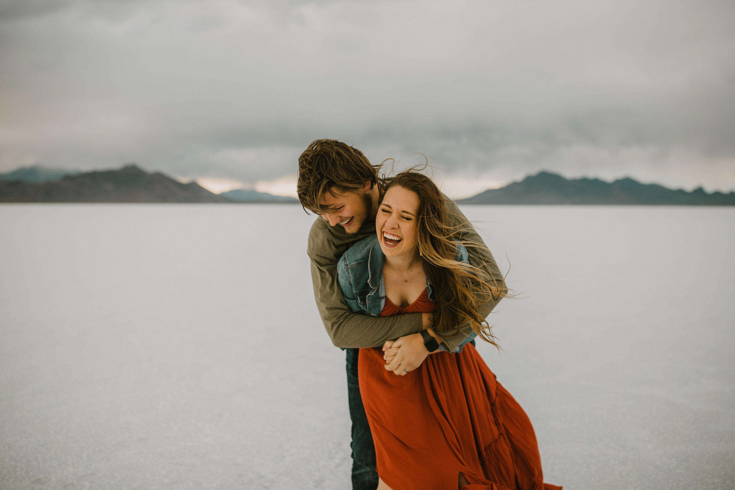 Bonneville Salt Flats Elopement, Engagement Session