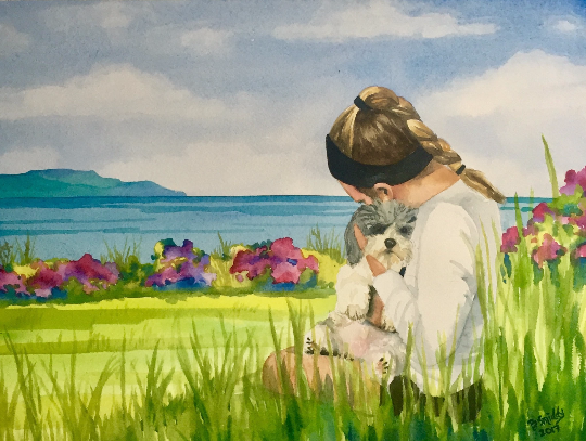 Custom watercolor portrait paintings from photos