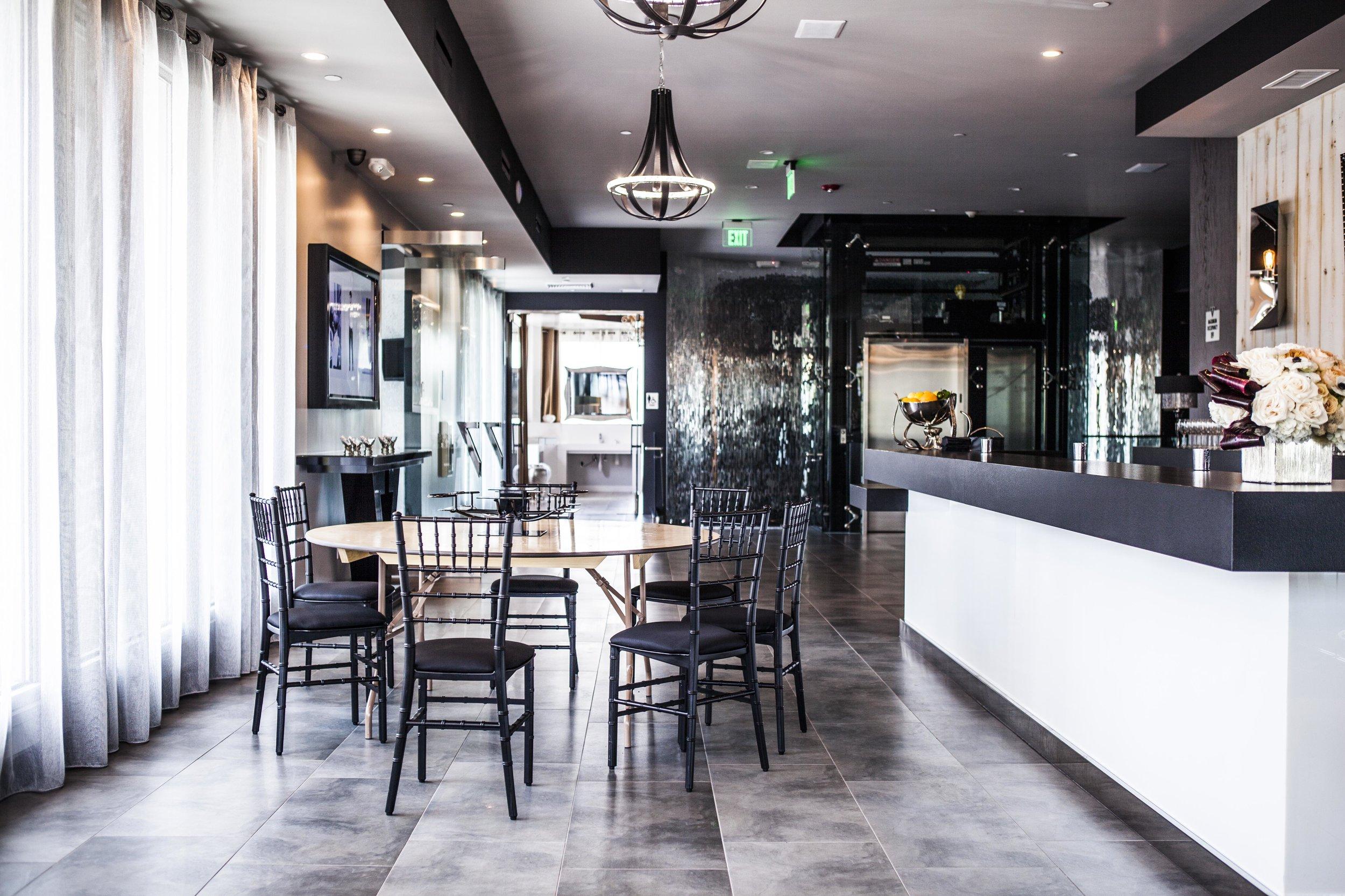 The Top Bar at Vertigo can transform to create an intimate dinner party room.