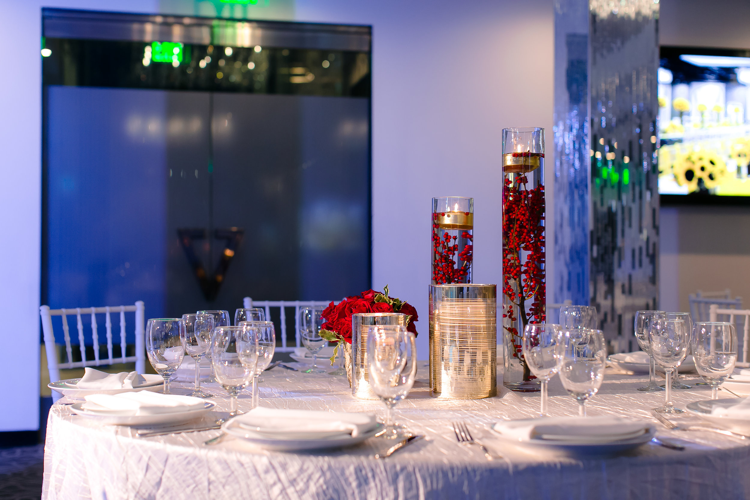 Everything on this table was a choice. Event production helps guide those choices and ensures that everything lines up logistically.