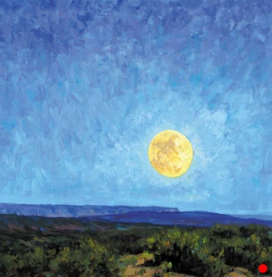 Moon, Mesa Sage