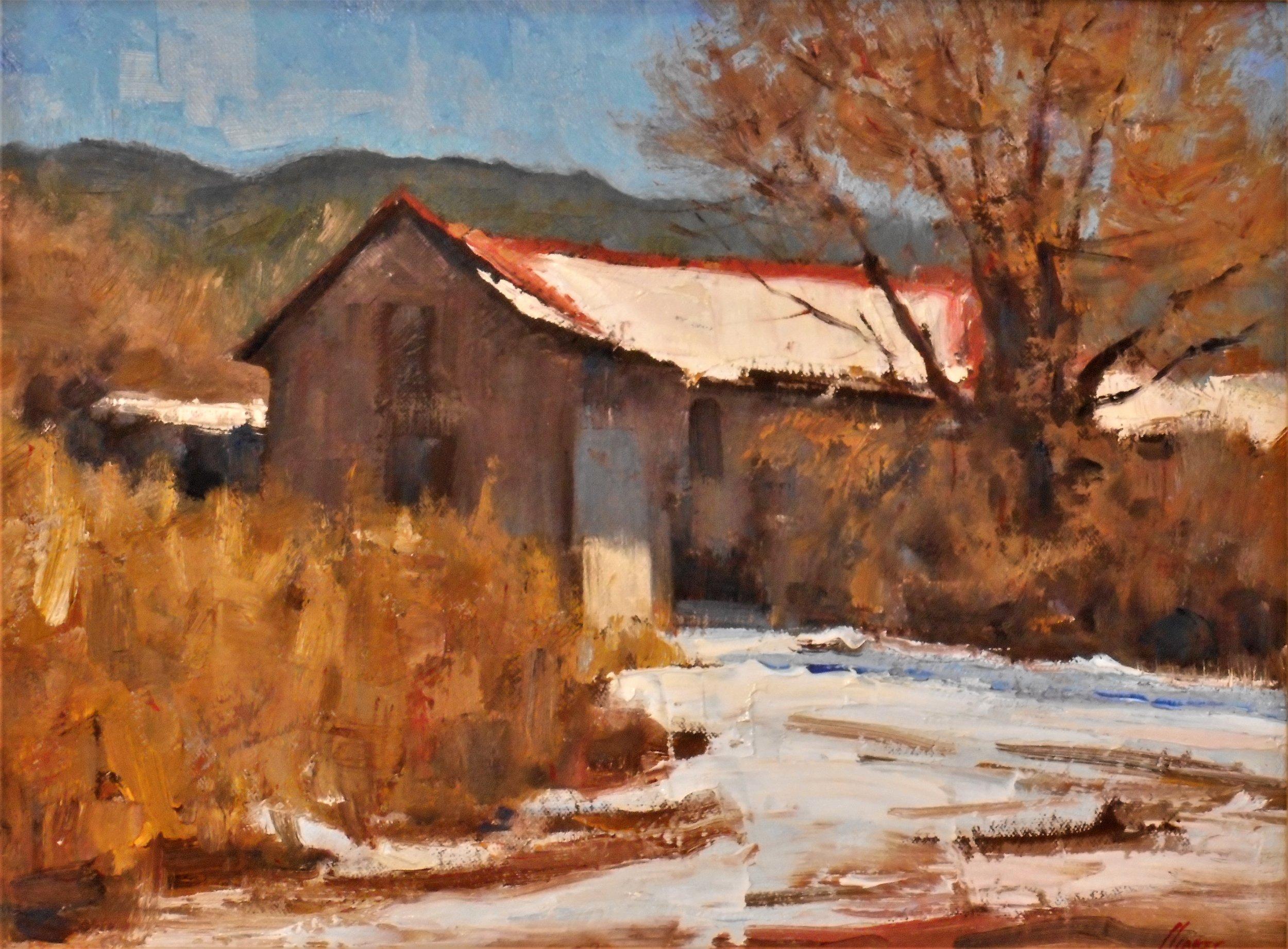 Winter New Mexico Oil 12 x 16 $3200.JPG