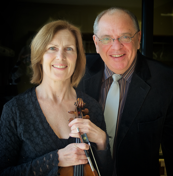 Music director Michael Lyons and string director Laurie Mitchell