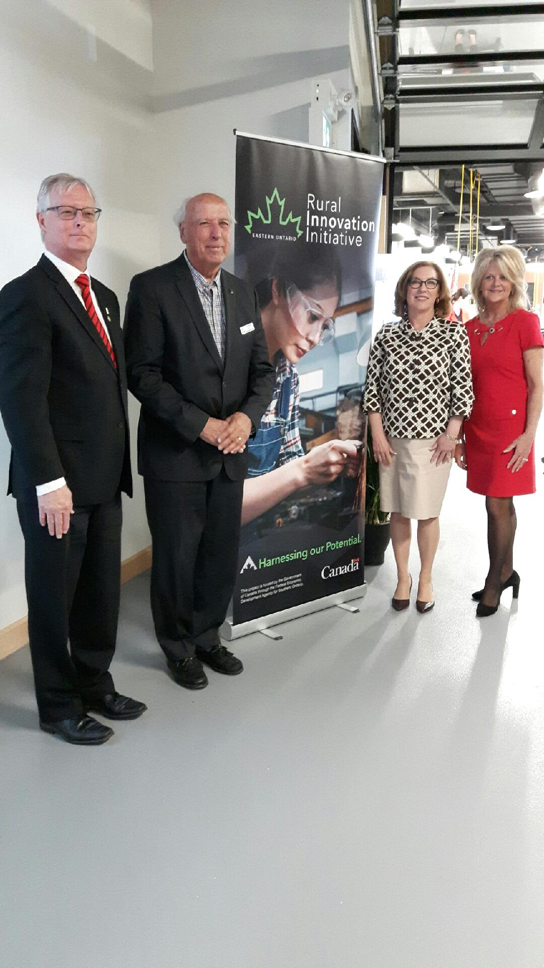From left: Cobourg Mayor John Henderson, Venture 13 board chair Rick Holmes, Northumberland-Peterborough South MP Kim Rudd and Northumberland Community Futures Development executive director Wendy Curtis