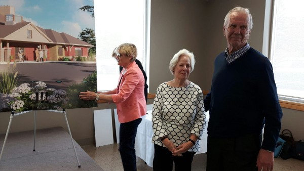 Dr. Bill Harris and his wife Penny, a long-time hospice volunteer, helped to unveil the final fundraising campaign total for the Ed's House Northumberland Hospice Care Centre at this week's celebration event.