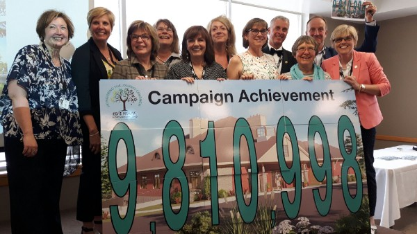 The campaign committee who exceeded the fundraising for the Ed's House Northumberland Hospice Care Centre by more than half a million dollars, had reason to rejoice at this week's big celebration event.
