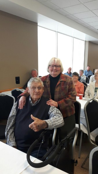 Diane and Ed Lorenz were delighted to be present for this week's big celebration of a successful fundraising campaign for the Ed's House Northumberland Hospice Care Centre. It was named after Lorenz in honour of the family's outstanding support of the project.