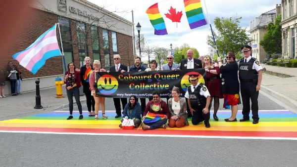 Pride organizers on the rainbow Crosswalk