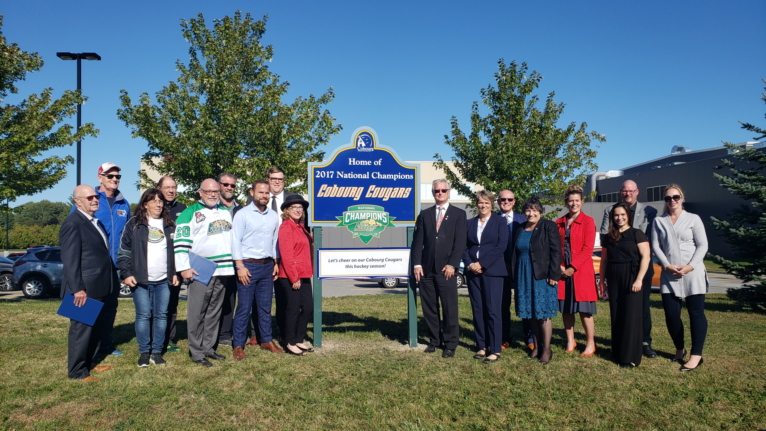 Cobourg Cougar Sign Unveiling_Group Photo.png
