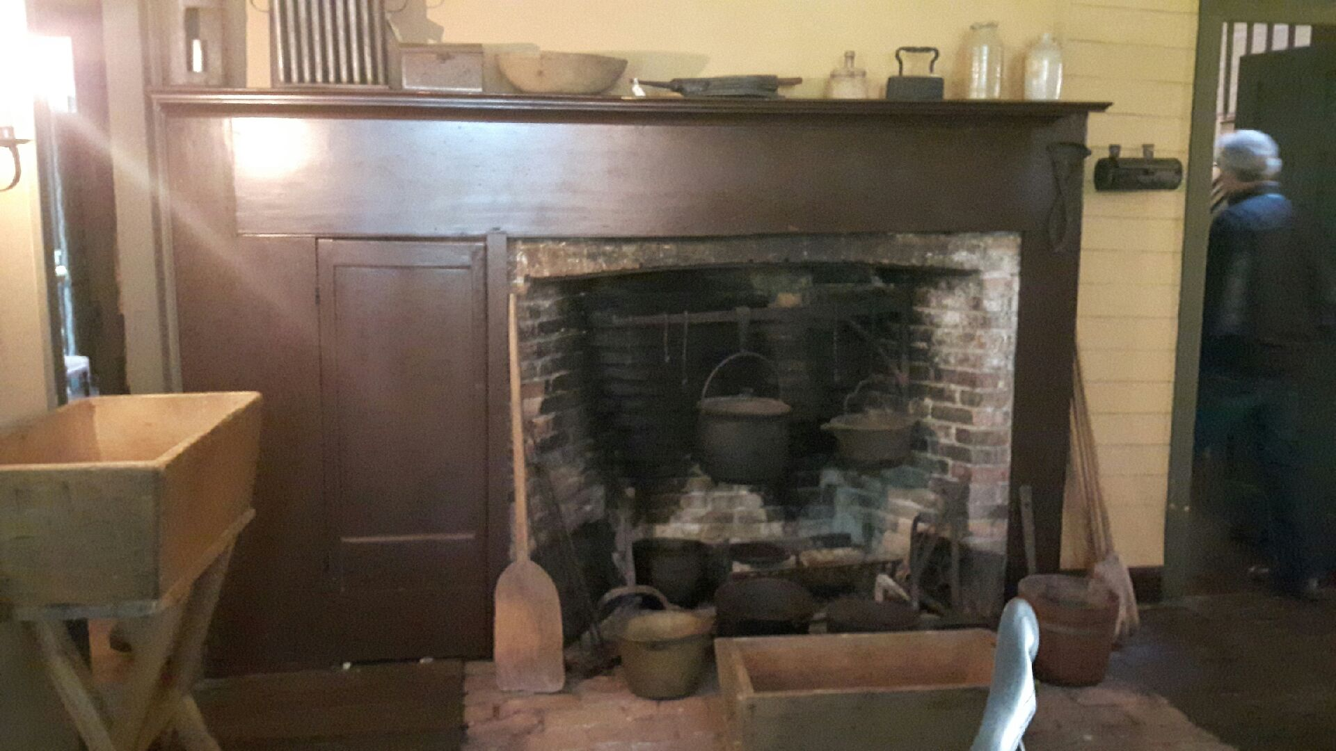 Barnum family meals were cooked in this fireplace