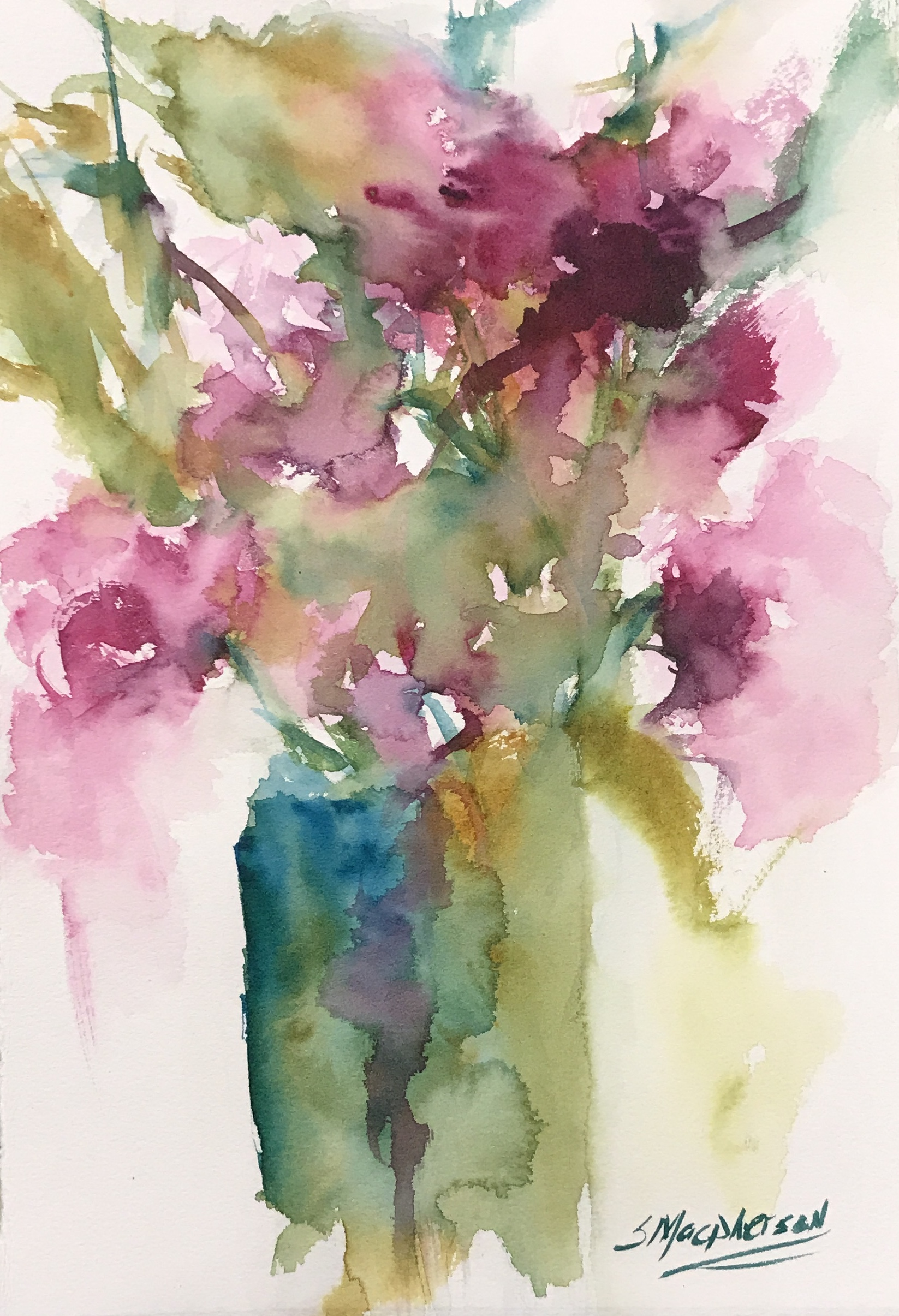Glowing Blooms Watercolor