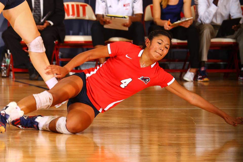 Female College Athlete Volleyball