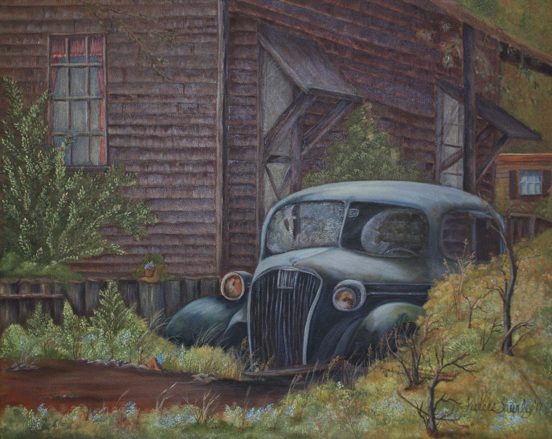 Limited Prints are available on the site now.    Original Times Gone By Painting - Sold