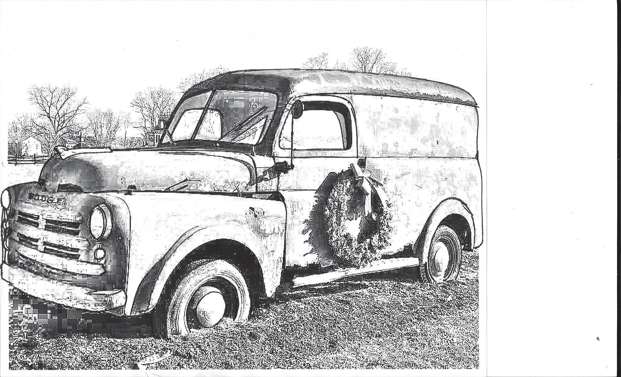Newest sketching and planning for the Antique Dodge Truck Painting Soon