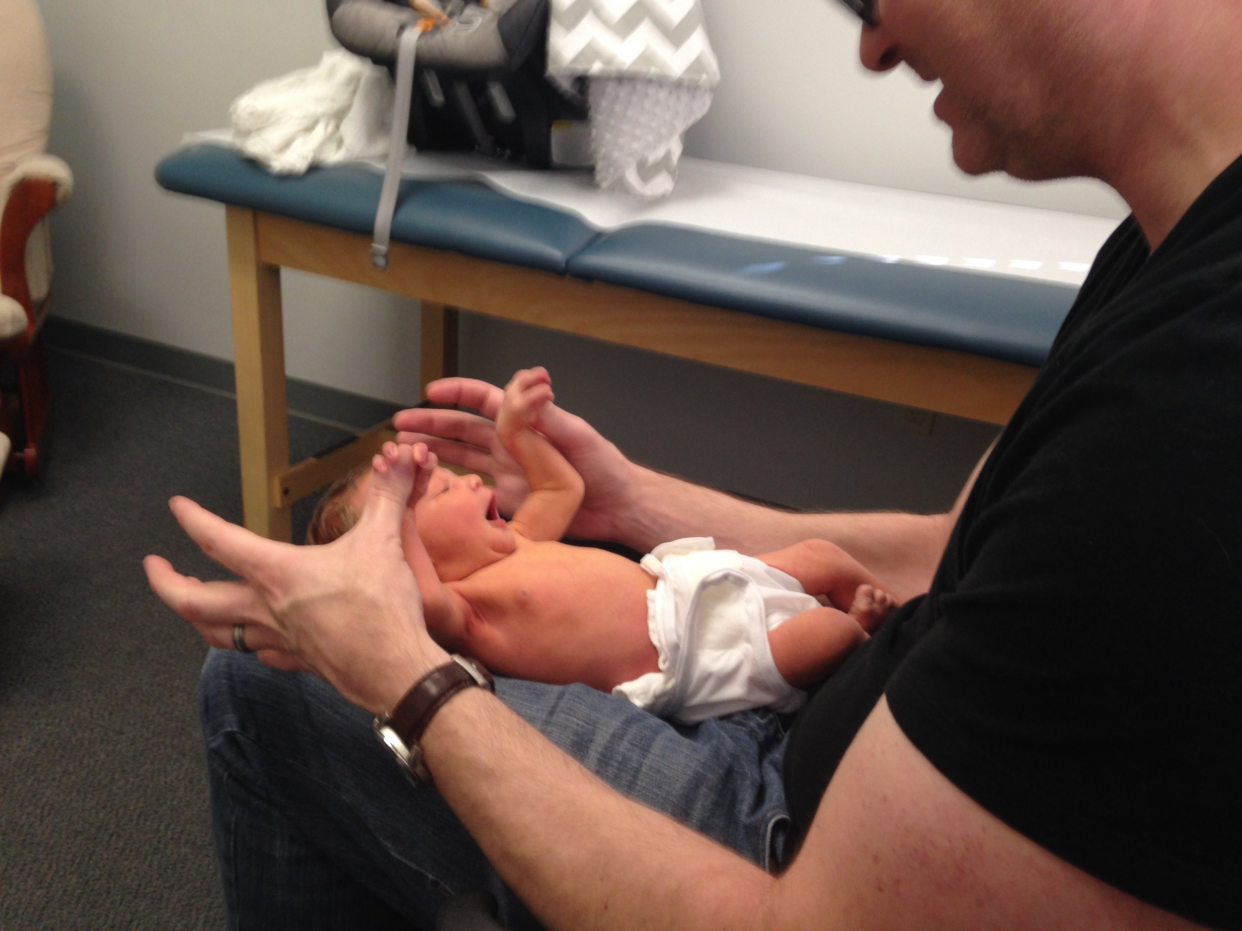 My orange baby at the pediatrician.
