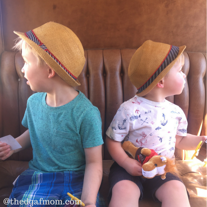 Boys wearing hats