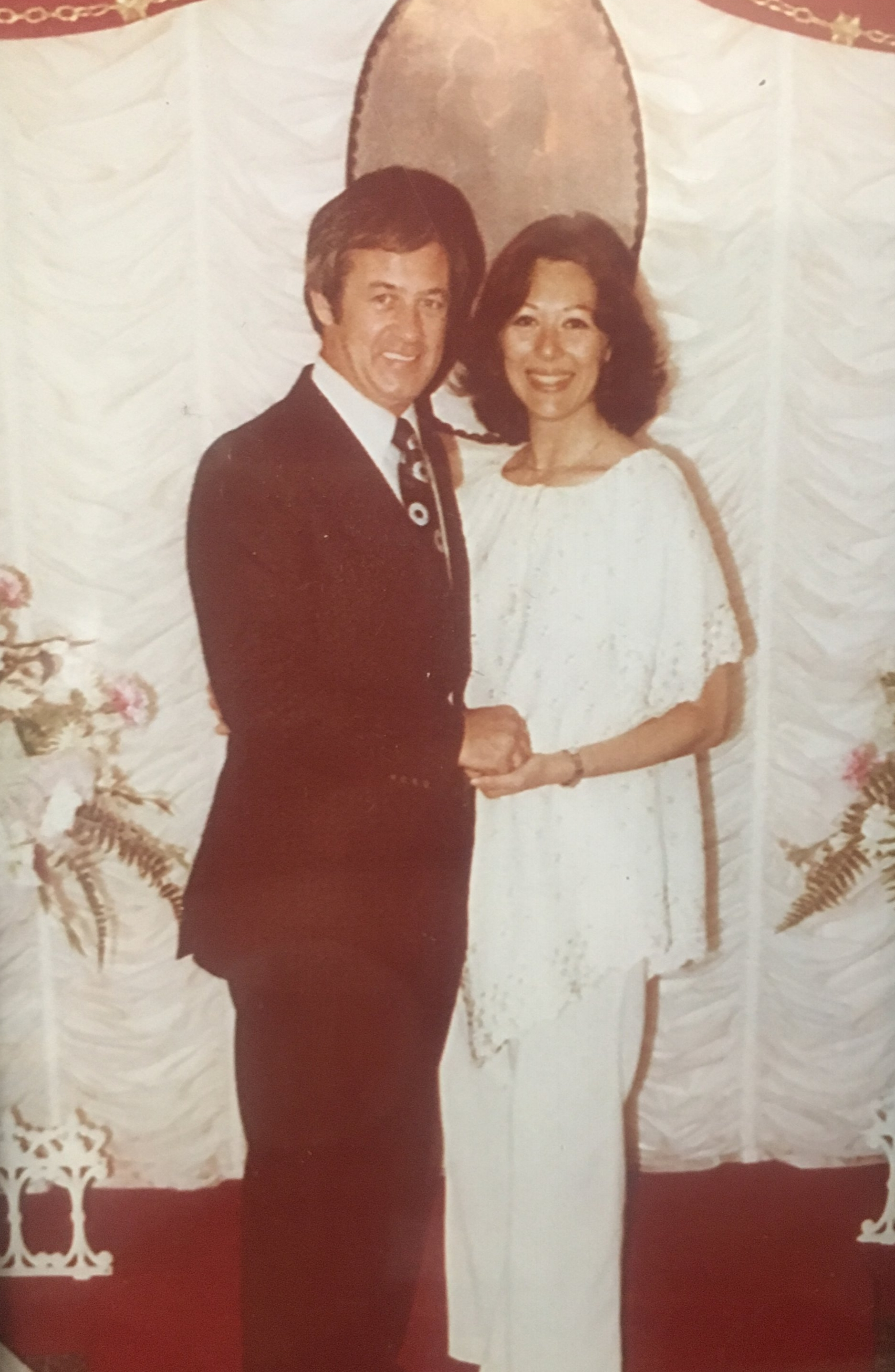 My parents. Just married. Aren't they so cute!?