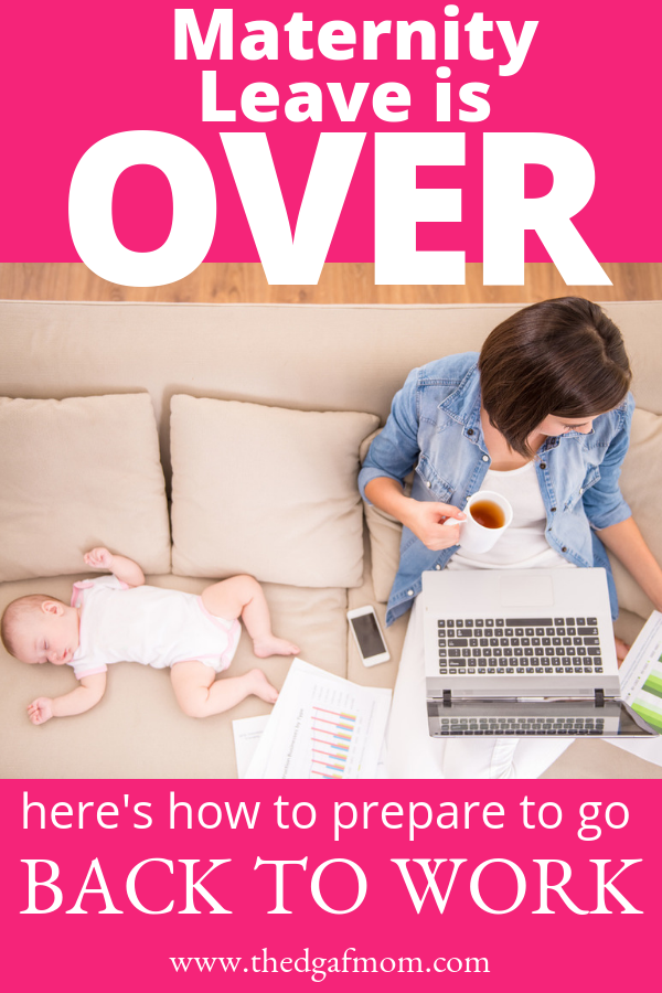 It can feel overwhelming when you realize that maternity leave is ending and it's time to prepare to go back to work after baby. These tips and suggestions can help you navigate the stress of re-entering the workforce after recovering from labor, delivery, and bonding with your new baby.