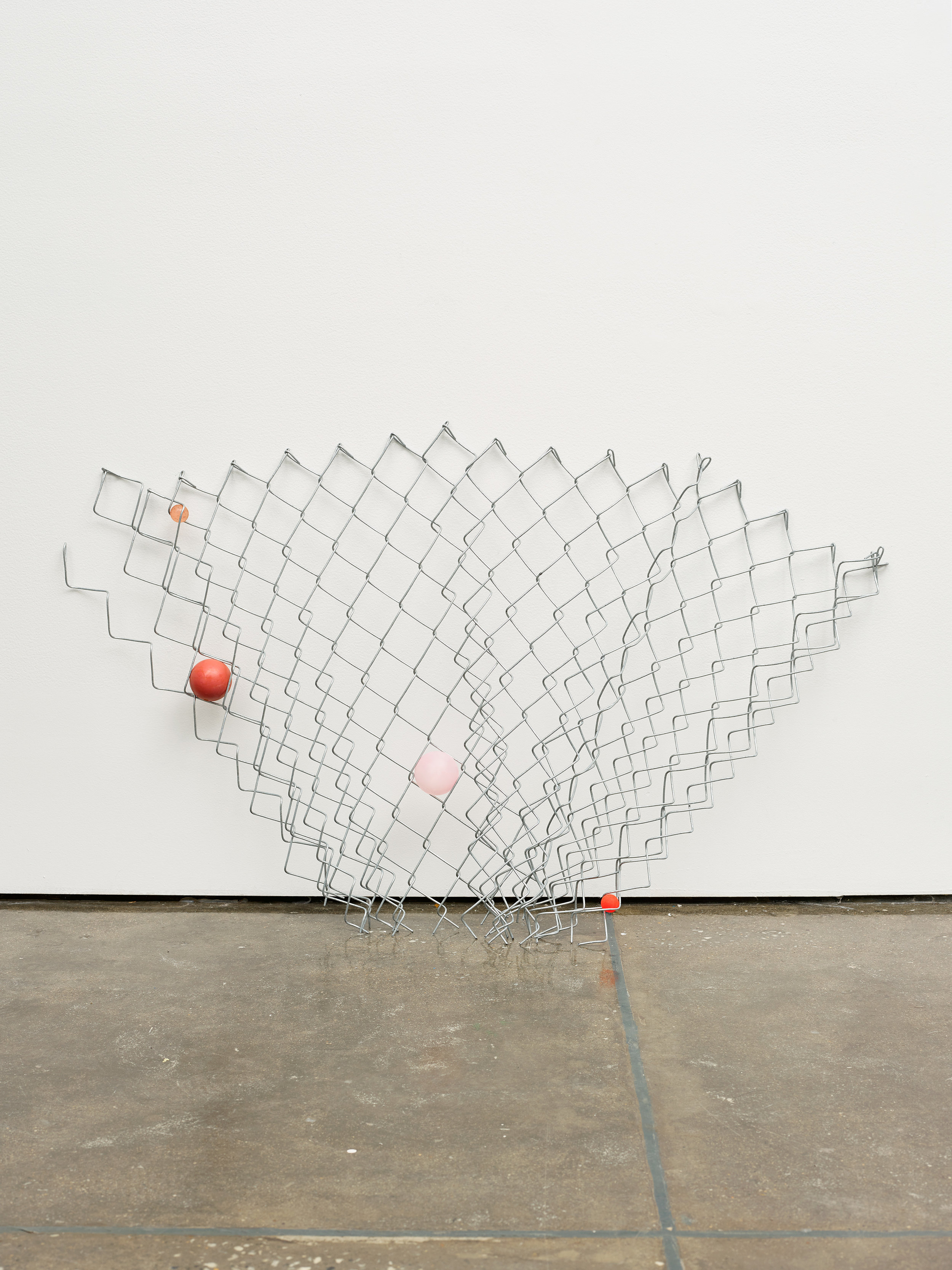 """Evan Robarts. """"Hibiscus."""" 2016. Ball in Chain Links Form. 30 x 45 in."""