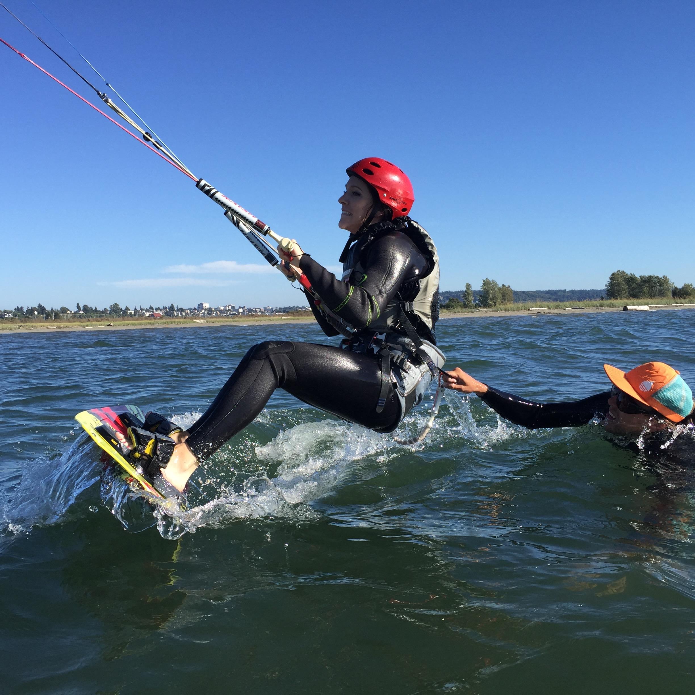 Urban Surf Kiteboarding Shallow Water Lesson 3