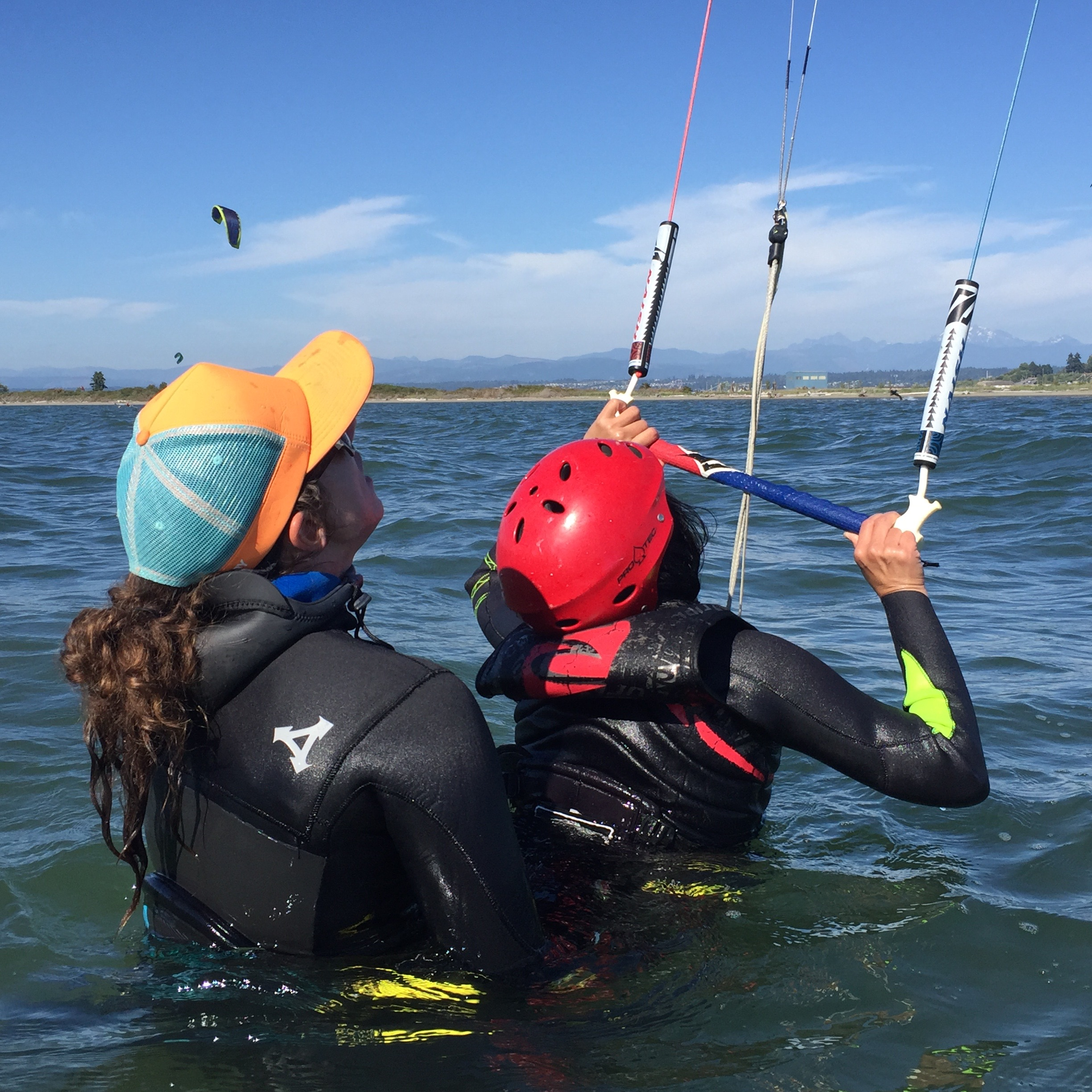 Second Kiteboard Lesson In Shallow Water at Jetty Island