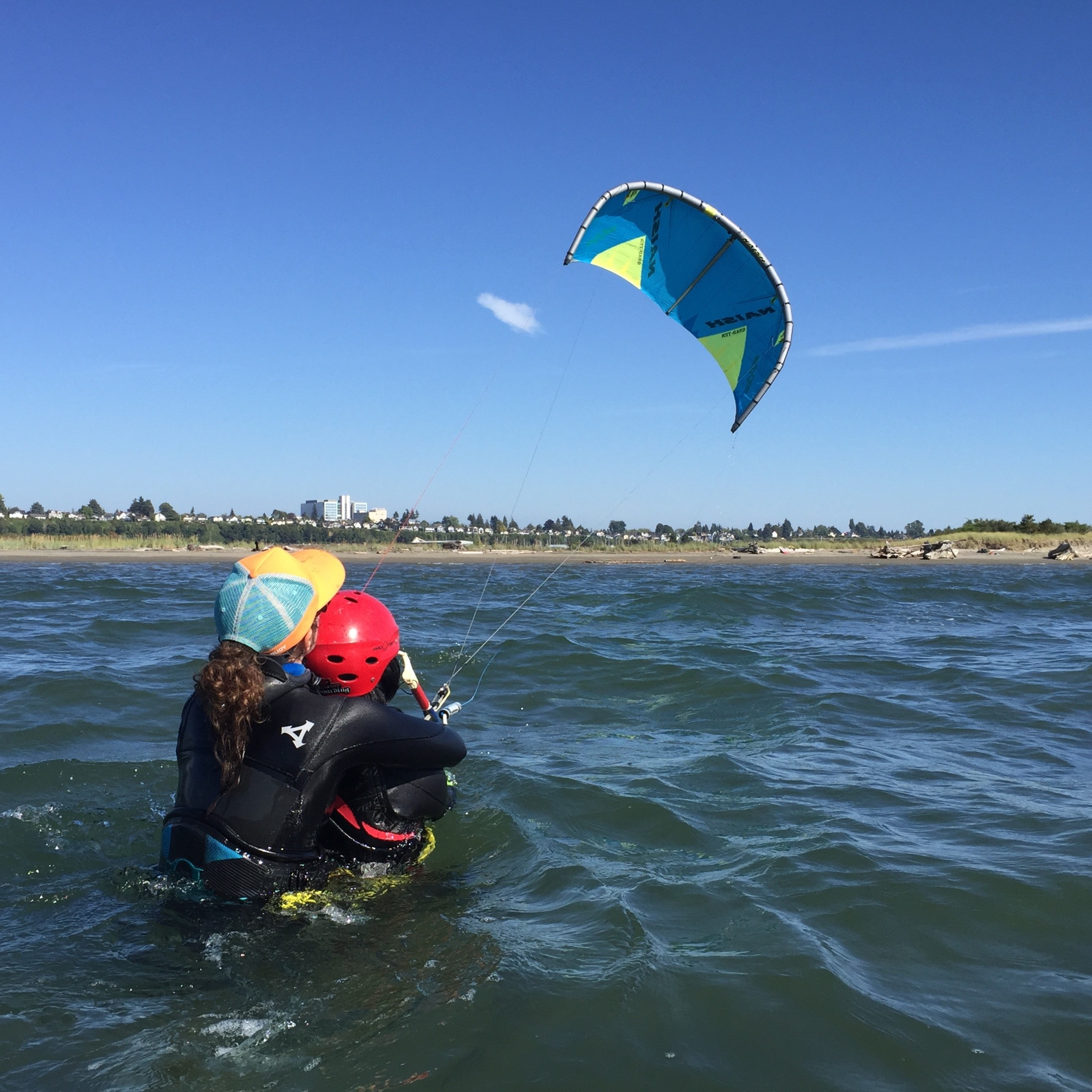 Learning to Fly   Becoming a Kiteboarder at Jetty Island