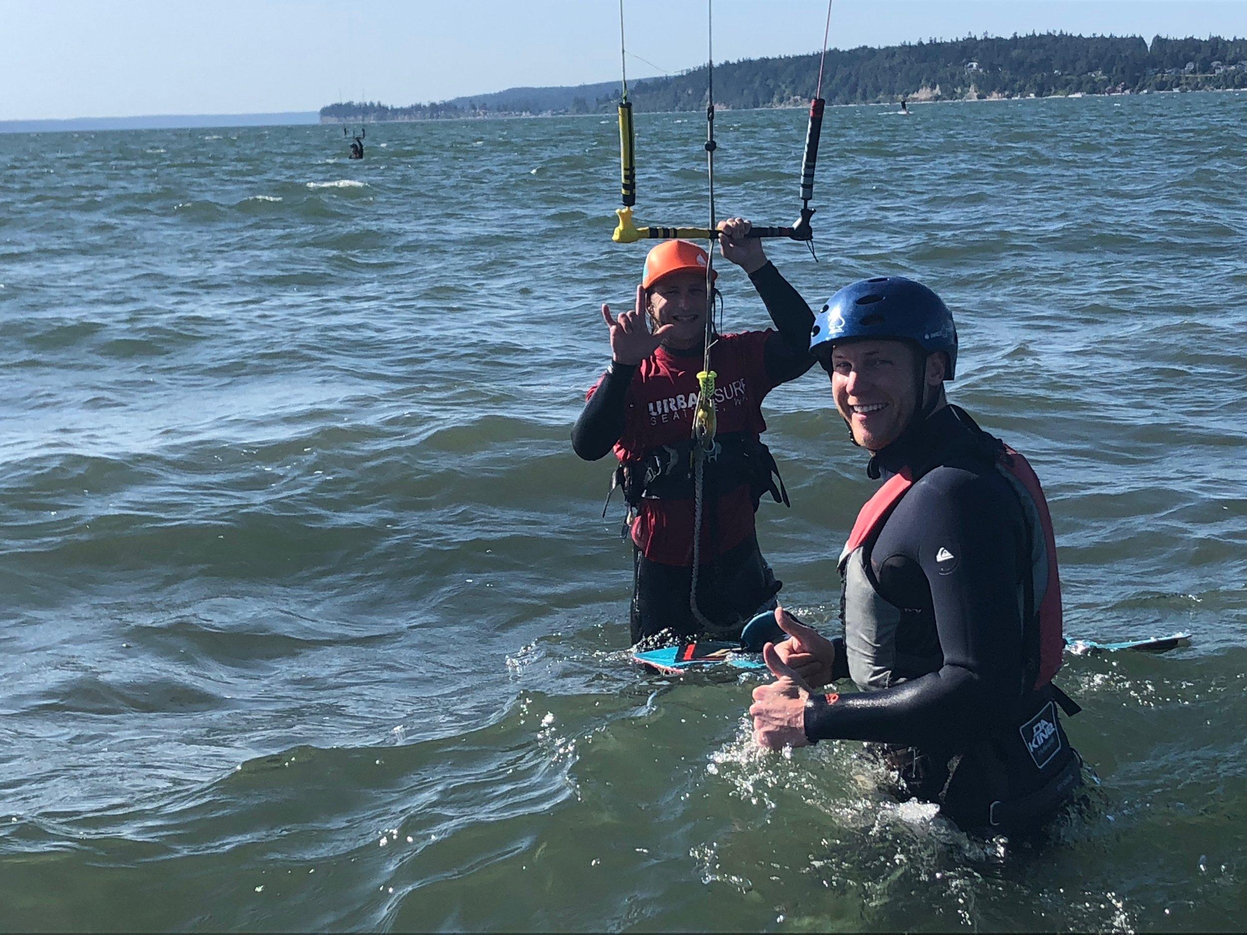 Kiteboarding Lesson Level 2 Shallow Water Training