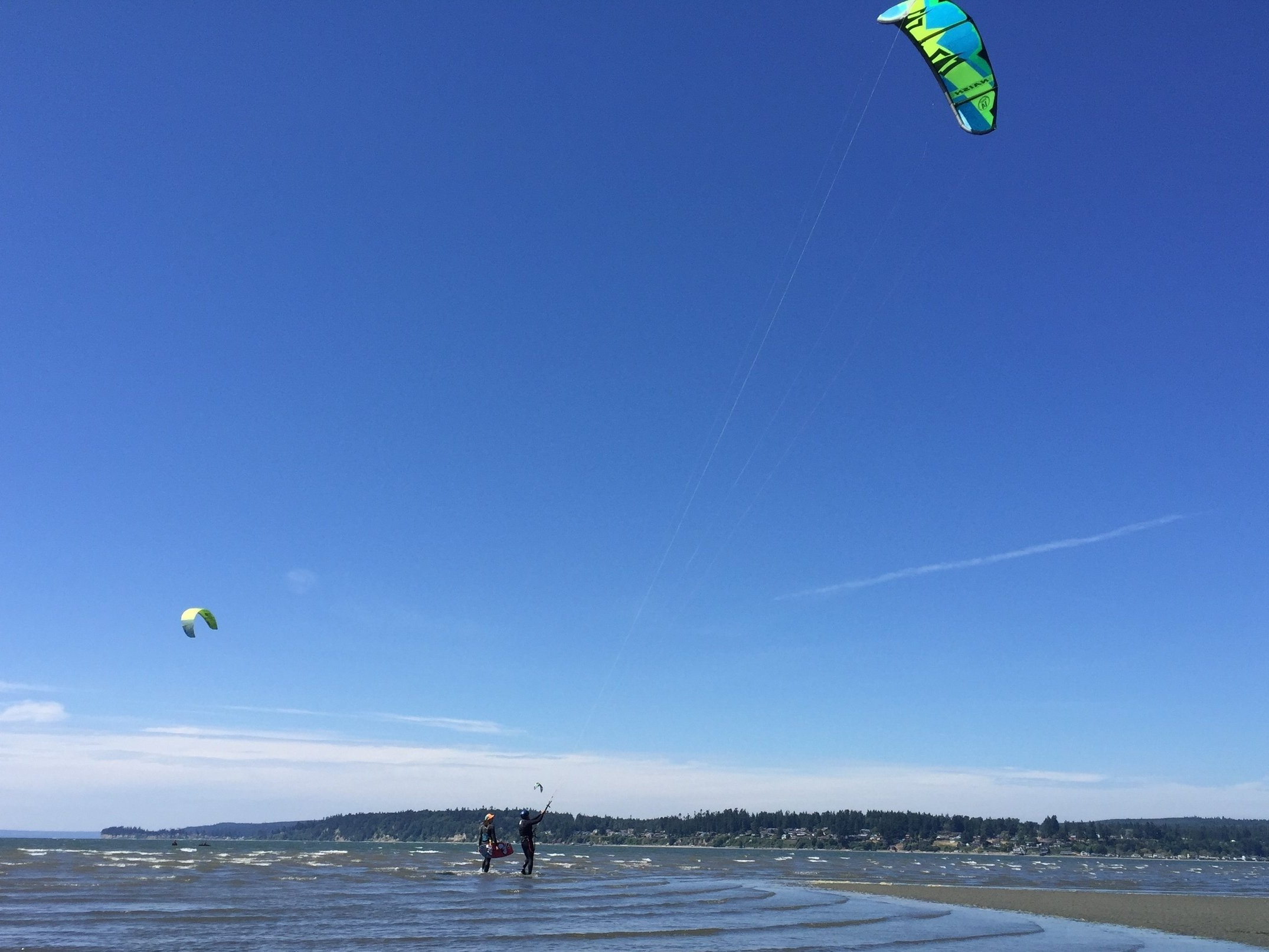 Second Kiteboard Lesson at Jetty Island with Urban Surf